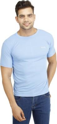 Eprilla Solid Men,s Round Neck Light Blue T-Shirt