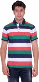 Venetian Striped Men's Polo Neck Multico...