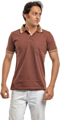 BG69 Solid Men's Polo Brown T-Shirt