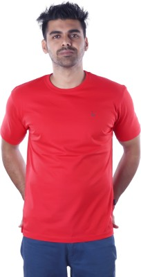 Mrtees Solid Men's Round Neck Red T-Shirt