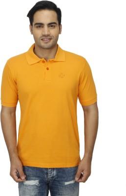 Zista Solid Men's Polo Orange T-Shirt