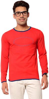 Ebry Solid Men's Henley Red T-Shirt