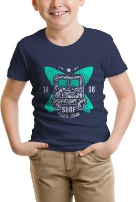 nahshonbaby Solid Boy's Round Neck Dark Blue T-Shirt