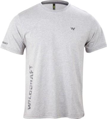 Wildcraft Graphic Print Men's Round Neck Grey T-Shirt