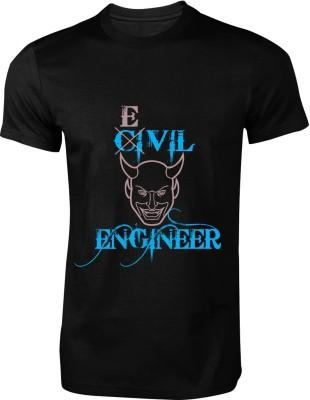 My Insignia Printed Men's Round Neck Black T-Shirt
