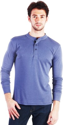 Lotto Solid Men's Henley Grey T-Shirt