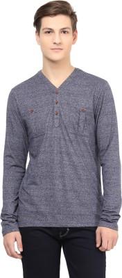 Atorse Solid Men's Round Neck Grey T-Shirt