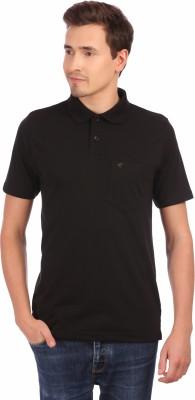 Neva Solid Men's Polo Neck Black T-Shirt
