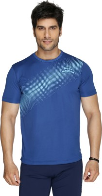 Aquamagica Printed Men's Round Neck Blue T-Shirt