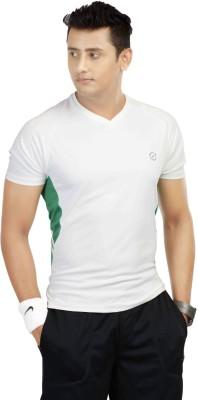 Being Responsible Self Design Men's V-neck White T-Shirt