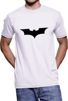 FOCECO Printed Boy,s, Men's Round Neck White T-Shirt