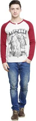 Era of Attitude Printed Men's Henley Grey T-Shirt