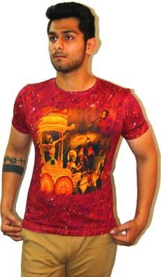 Rebel Gear Graphic Print Men's Round Neck Multicolor T-Shirt