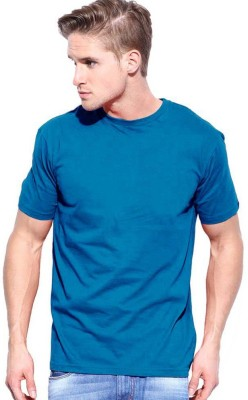 Cool Club Solid Men's Round Neck Dark Blue T-Shirt