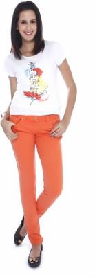 Miss Pink Solid Women's Round Neck White T-Shirt