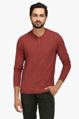 Global Nomad Solid Men's Henley Orange T-Shirt