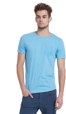 Breakbounce Printed Men's Round Neck Blue T-Shirt