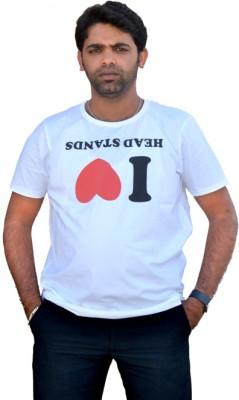 Top Yogi Yoga Printed Men's Round Neck White T-Shirt