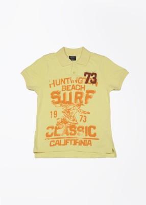 Cherokee Printed Boy's Polo Yellow T-Shirt