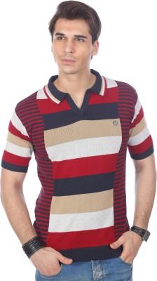 Stride Striped Men's Polo T-Shirt