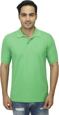 Zista Solid Men's Polo Green T-Shirt