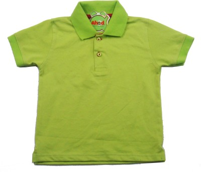 Ahad Solid Baby Boy's Polo Green T-Shirt