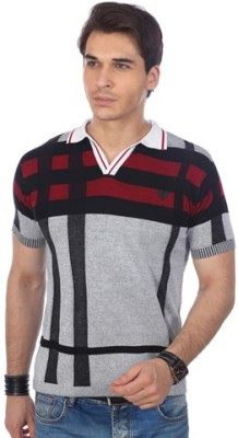 Shopcartz Striped Men's Polo Neck T-Shirt