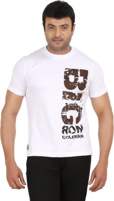 Ronnie Coleman Clothing Printed Men's Round Neck White T-Shirt