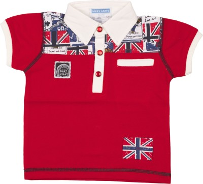 Lizzy Lazzy Solid Boy's Polo Neck T-Shirt