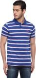 Classic Polo Striped Men's Polo Neck Mul...
