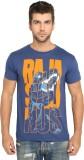 Imagica Printed Men's Round Neck Blue T-...