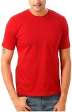 Bornify Solid Men's Round Neck Red T-Shi...