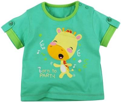 Fisher-Price Printed Baby Boy's Round Neck Green T-Shirt