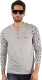 Rodid Solid Men's Henley Grey T-Shirt