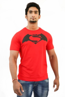 Indrow Printed Men's Round Neck Red T-Shirt