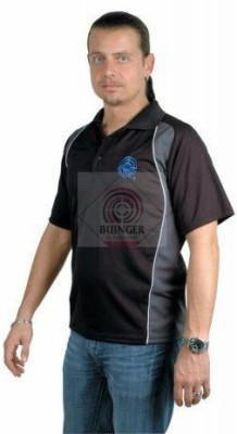 AHG-Anschutz Self Design Men,s Polo Neck Black T-Shirt