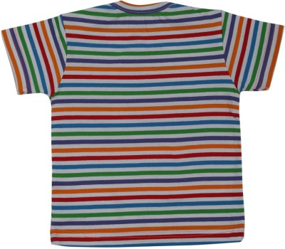Buzzy Striped Baby Boys Round Neck Multicolor T-Shirt