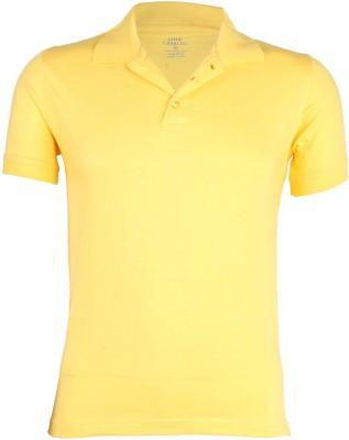 John Caballo Solid Men's Polo Yellow T-Shirt