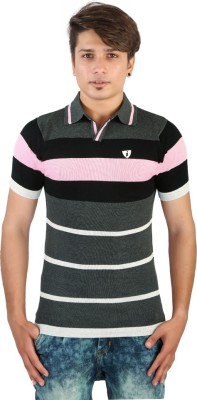 Igsmart Striped Men's Polo Neck T-Shirt