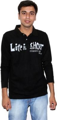 Mask Lifestyle Printed Men's Polo Black T-Shirt