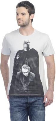 Dark Knight Printed Men's Round Neck Grey T-Shirt