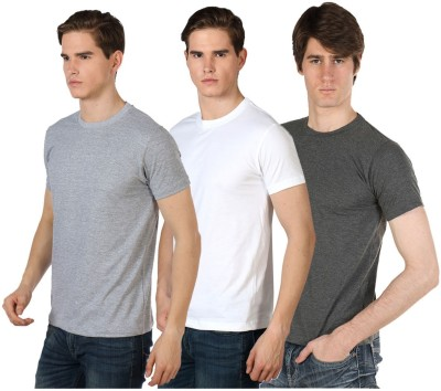 River Nation Solid Men's Round Neck T-Shirt