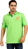 Cayman Solid Men's Polo Neck Green T-Shi...