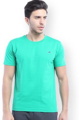 2go Solid Men's Round Neck Green T-Shirt