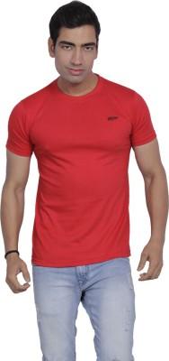 B2 Solid Men's Round Neck Red T-Shirt