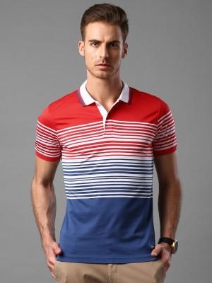INVICTUS Striped Men's Polo Neck White T-Shirt