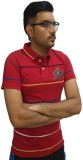 London Eye Striped Men's Polo Neck Red, ...
