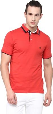 London Bridge Solid Men's Polo Neck Brown T-Shirt