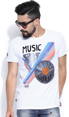 Jn Joy Printed Men's Round Neck T-Shirt