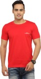 BBB Solid Men's Round Neck Red T-Shirt